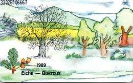 """(Gm1) BRD Telefonkarte 1989 (6 DM) Ungebraucht """"Eiche - Querecus"""" - Deutschland"""