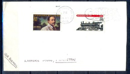 K366- Postal Used Cover. Posted From USA To Pakistan. Railway. Transport. - United States