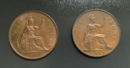 GRAN BRETAGNA  - ENGLAND  1947   Moneta 1 PENNY Giorgio VI Perfetta - 1971-… : Monete Decimali