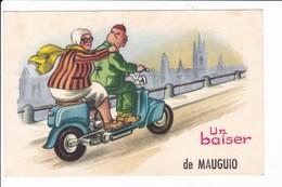 Dessin Fantaisie (couples Sur Scooter) Un Baiser De MAUGUIO - Mauguio