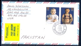 K370- Postal Used Cover. Posted From USA To Pakistan. Dolls. - United States