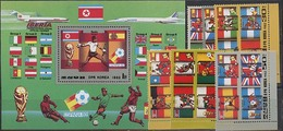 Nord North Korea, World Cup 1982, 6 Stamps + Block - Coupe Du Monde