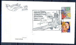 K373- Postal Used Cover. Posted From USA To Pakistan. Christmas. - United States