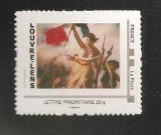 France, Collector, MonTimbraMoi, Neuf **, TTB, Musée Louvre-Lens, La Liberté Guidant Le Peuple, Delacroix - France