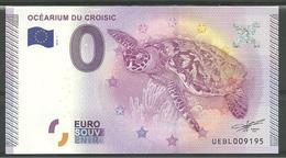 Billet Touristique 0 Euro 2015 Océarium Du Croisic Tortue, épuisé - EURO