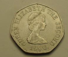 1990 - Jersey - FIFTY PENCE, ELIZABETH II, KM 58.1 - Jersey