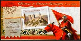 FR. 2012 - N° BC714 Y & T - Châteaux Et Demeures - 12 TIMBRES AUTOADHESIFS NEUFS**- Au Tarif Lettre Prioritaire De 20gr - KlebeBriefmarken