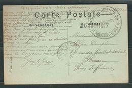 FRANCE 1917 CPA   Illustrée Hopital Complémentaire Berniéres S/Mer - Marcophilie (Lettres)