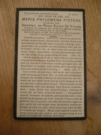Lokeren Maria Pieters 1903 1935 - Devotieprenten