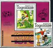 Togo, World Cup 1978-82, 1 Stamp +block Overprinted - Fußball-Weltmeisterschaft