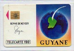 TELECARTE - 120 - SOPHIE DE KEYSER - French Guyana