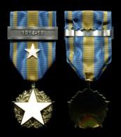 Médaille Des Blessés Civils Avec étoile Blanche Peinte, Agrafe 1914-18 Et épingle De Port - France