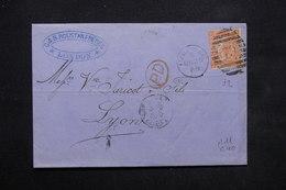 ROYAUME UNI - Lettre De Londres Pour Lyon En 1869, Affranchissement Plaisant - L 23750 - Marcophilie