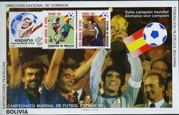 Bolivia, World Cup 1982, Italia-Winner, Block 36 Euro - Coupe Du Monde