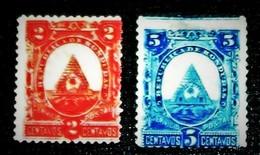Honduras,1890, Coat Of Arms-.Freimarken, Staatswappen. , MNH. Michel # 23,24 - Honduras