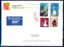 K391-  Postal Used Cover. Posted From USA To Pakistan. Light House. - United States