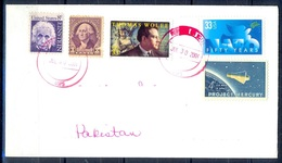 K392- Postal Used Cover. Posted From USA To Pakistan. Space. 50 Years Of NATO. - United States
