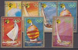 Yemen YAR 1972 Olympic Games / Sailing Ships 7v Used (41911) - Yemen
