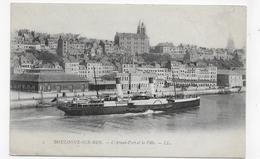 BOULOGNE SUR MER - N° 2 -   L' AVANT PORT ET LA VILLE - CPA NON VOYAGEE - Boulogne Sur Mer