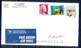 K397- Postal Used Cover. Posted From USA To Pakistan. Love. - United States