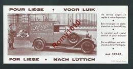 Liège - Buvard Publicitaire Illustré. Camionnette De Livraison. Art Floral Straps. Rue D'Amercoeur, 83. Scan Recto/verso - Automobile