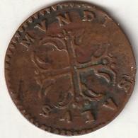 PIACENZA: SALUS MUNDI MARIA TERESA (1740/1744) SESINO NON COMUNE IN RAME PESO Gr. 1,20 - Monnaies Régionales