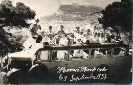 Monaco : Autocar D'excursion Le 9 Septembre 1937 - Personnes Anonymes