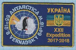 UKRAINE / Patch, Abzeichen, Parche, Ecusson / ANTARCTICA / XXII Expedition 2017-2018 Vernadsky Station Fauna Penguin - Patches