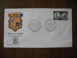 FDC  Enveloppe   Andorre Français  1964 - FDC