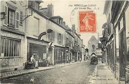 Seine Et Marne -ref-B469- Moret Sur Loing - Grande Rue - Poste - Postes - P.t.t - Tabac - Tabcs- Magasins - Voir Etat - Moret Sur Loing