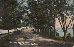 Vintage 1910 - Montreal Lachine - Lower Lachine Road - Valentine & Sons - Animated - Written - 2 Scans - Other