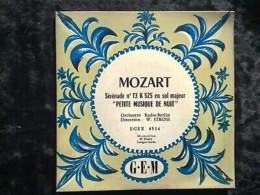 """Mozart: Sérénade N°13 """"petite Musique De Nuit"""". Direc:Stross/ 45t GEM Egex 4514 - Klassik"""