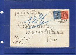 ##(DAN193)-1928- Pneumatique  PARIS  XVI - PL.CHOPIN - Storia Postale