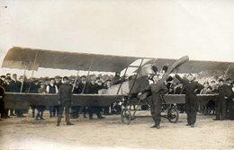 Avion Avec Pilote Et Mécaniciens Par Photographe 32 Rampe Beauvoisine Rouen (76) - Aviation