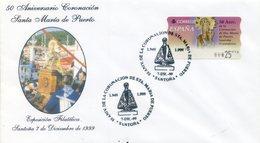 1999 SPAIN. Special Postmark Special Crowning Glory Postmark Of Virgen De Puerto (Santoña - Spain). Holy Mary - 1931-Aujourd'hui: II. République - ....Juan Carlos I