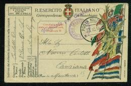 FRANCHIGIE- N. 177/40  - 7 PUNTI  - PM 66  - PER CAVRIANA - CENSURE -TIMBRO UFFICIO SPROVVISTO BOLLI - 1900-44 Vittorio Emanuele III