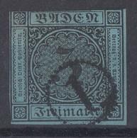 Baden Minr.8 Gestempelt Uhrradstempel Nr.1 - Baden