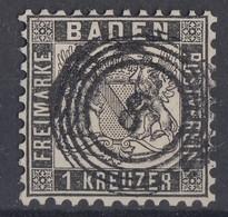 Baden Minr.17 Gestempelt Nr.-St.8 Baden - Baden