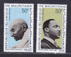 MAURITANIE AERIENS N°   81 & 82 ** MNH Neufs Sans Charnière, TB (D8670) Gandhi, Martin Luther King - 1968 - Mauritanie (1960-...)