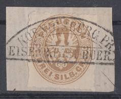 Preussen Minr.18 Briefstück Königsberg Eisenbahn-Post- Buer. - Preussen