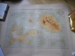 Superbe Carte Ancienne DOM TOM Couleurs : Kerguelen La Réunion Comores Crozet - Cartes Géographiques