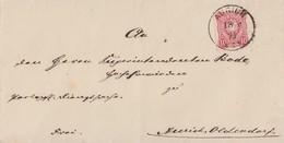 DR Brief EF Minr.33 K1 Aurich 18.9.75 Ankunftsst. Nachv. Hanover-St. Grossefehn - Deutschland