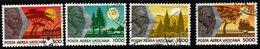 R332. VATICAN 1990. SC#: C88-C91 - USED - JOURNEYS OF POPE J.P. II - Vatican
