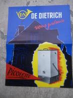 Prospectus DE DIETRICH Vous Présente Picolette - Niederbronn Les Bains (Bas-Rhin) - Chaudière Chauffage - Electricité & Gaz