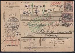 DR Paketkarte Für 3 Pakete Mif Minr.2x 72, 4x 76 Berlin 26.9.05 Gel. In Schweiz - Deutschland