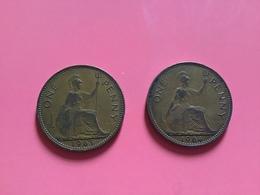 GRAN BRETAGNA  - ENGLAND  1964 Moneta 1 PENNY Elisabetta II - 1971-… : Monete Decimali