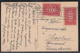 DR Karte Mef Minr.2x 195 Leipzig 15.2.22 Gel. In Tschechoslowakei - Deutschland
