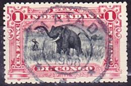 "2019-0054 État Indépendant Du Congo 1901 Mi 30 Avec Excellente Oblitération ""MATADI 10. JANV. 1908"" O - 1894-1923 Mols: Gebraucht"