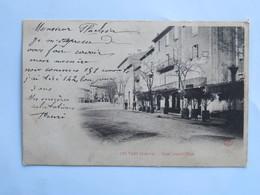 C.P.A. Précurseur : 07 LES VANS : Place Leopold Ollier, Café Hôtel, Timbre En 1904 - Les Vans