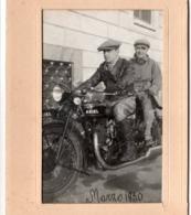 Moto ARIEL 1930 - Photo 8x13cm - Milano ? Couple - Automobiles